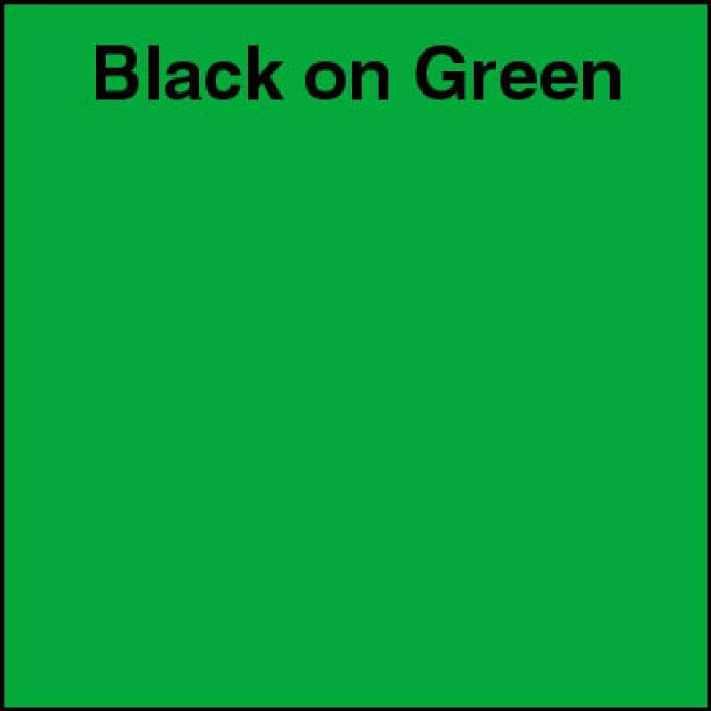 "Industrial Labeling Tape 1/4"" x 26' Black on Green for 2001XLST, 2012XLST"