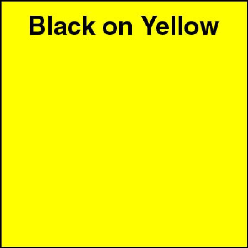 "Industrial Labeling Tape 1/4"" x 26' Black on Yellow for 2001XLST, 2012XLST"