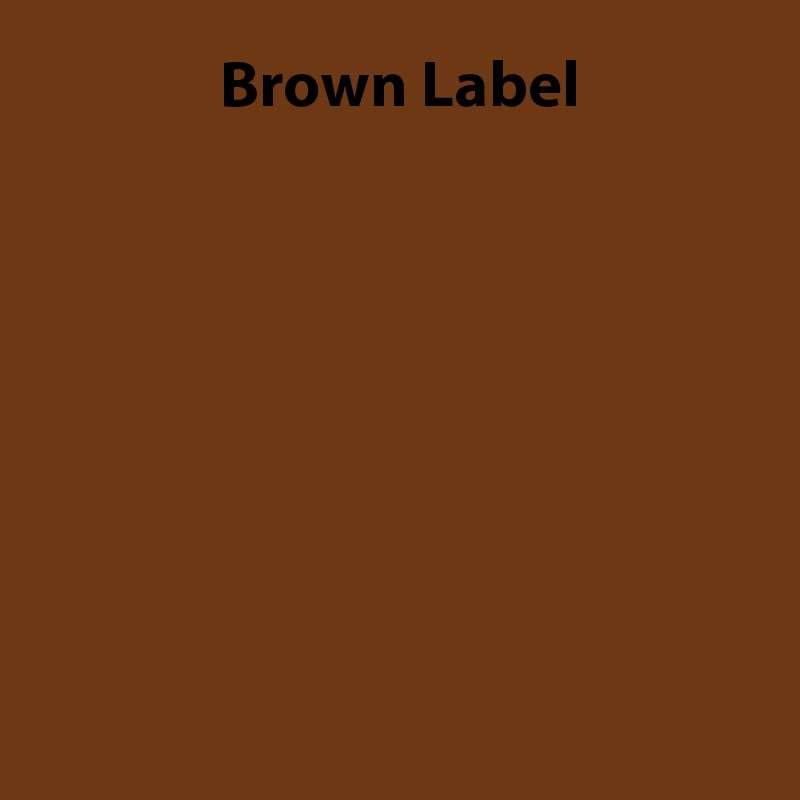 "K Series Industrial Labeling Tape, Polyethylene Olefin, 4"" x 49.2', Brown for PEARLabel® 400iXL"