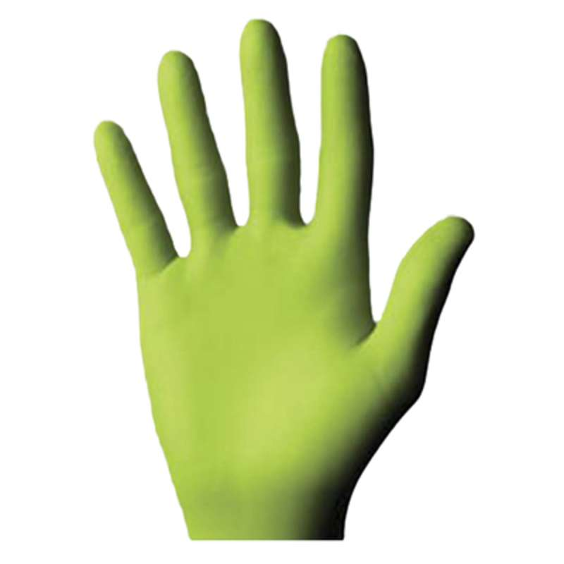 Best® N-Dex Free™ 9500PF Rolled/Beaded Cuff Disposable Nitrile Exam Glove, X-Large, 11 in x 5 mil, Green  20 BX/CA