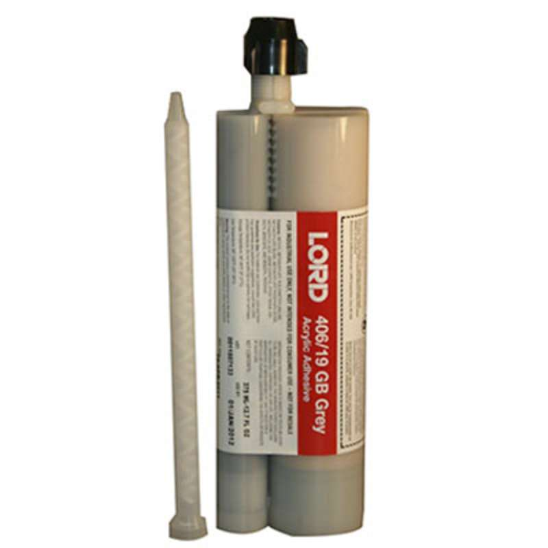 Lord® 406 Acrylic Adhesive With 0.010 in Glass Beads, 375 mL, Gray