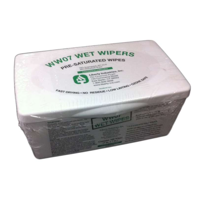 """Cleanroom Wipes Pre-Saturated with 70% IPA, 6 x 9"""", 100 per Container"""