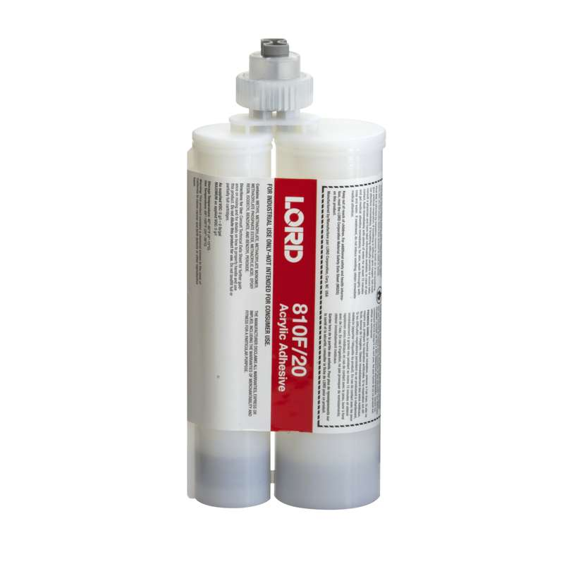 LORD 810 Low Read-Through (LRT) Acrylic Adhesive with LORD Accelerator 20, 50mL Cartridge