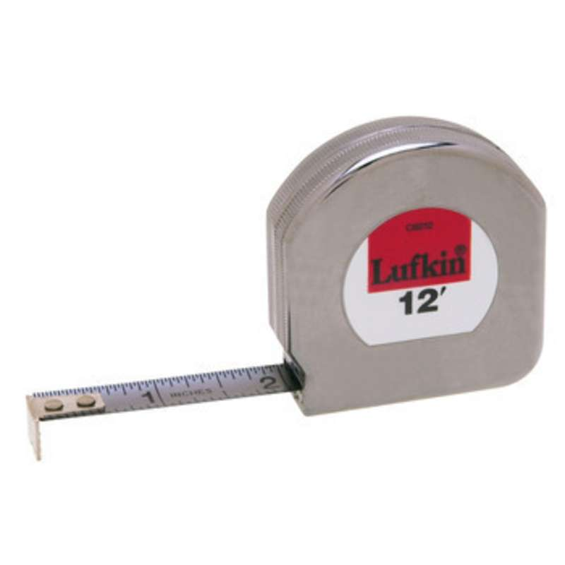 "Mezurall® Chrome Clad® Measuring Tape, Reads in Inches w/ 1/16 Inch Scale, 1/2"" x 12'"