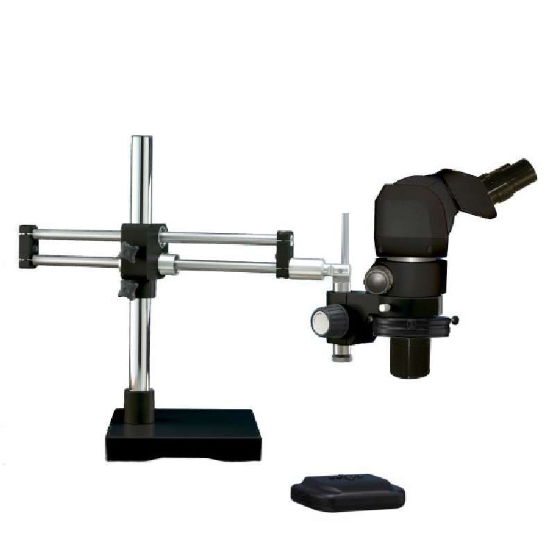 System 273 VIP ESD-Safe Microscope with Dual Boom Ball Bearing Stand and LED-3000 Ring Light, 4X-25X