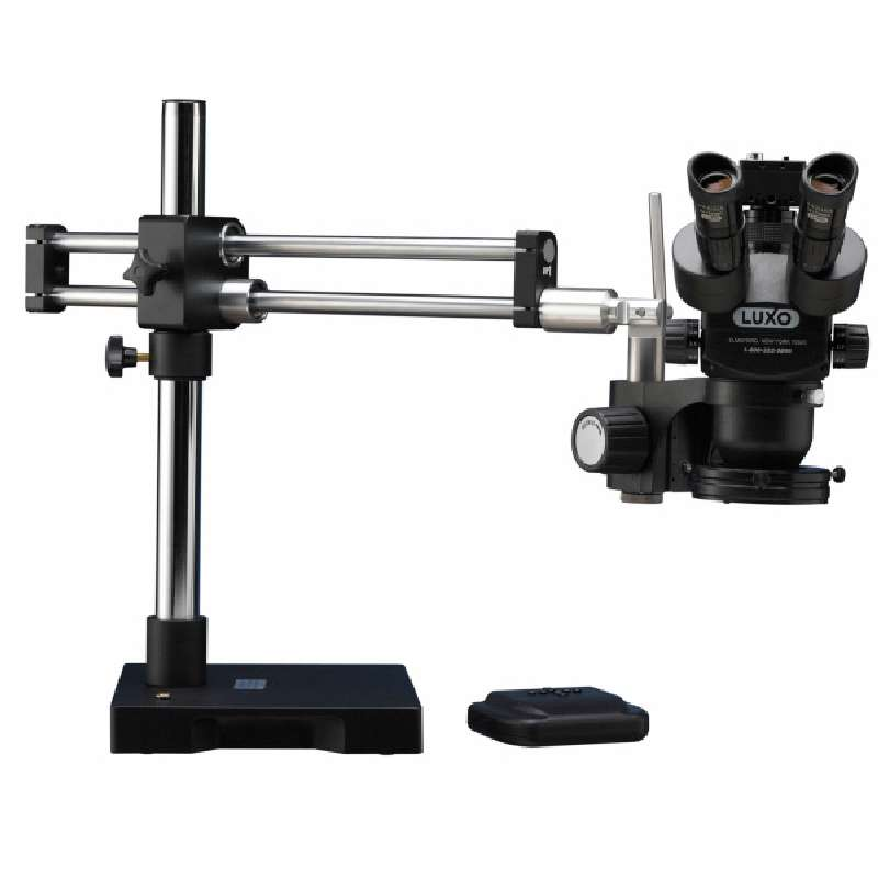System 373 ESD-Safe 23mm TRU Trinocular Microscope with RB Stand, Dimmable High Output LED Ring Light and USB 2.0 Camera, 7X-45X