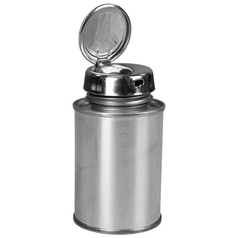 Take-Along Tin Can Solvent Dispenser Bottle with Locking Pump, 4oz