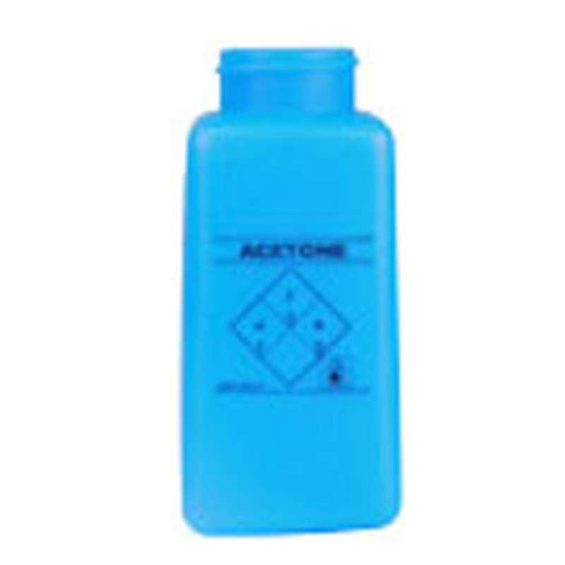 ESD-Safe Blue durAstatic™ Acetone Solvent Dispenser Bottle without Lid, 8 oz
