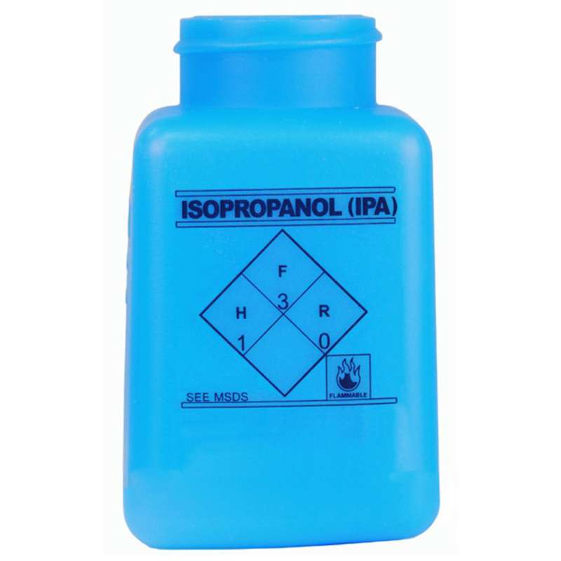 ESD-Safe Blue durAstatic® Isopropanol IPA Solvent Dispenser Bottle without Pump Top, 6 oz