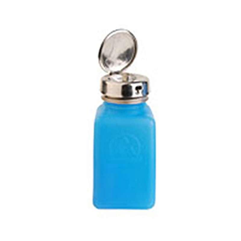 ESD-Safe Blue durAstatic™ Solvent Dispenser Bottle with Take-Along Pump Top, 6 oz