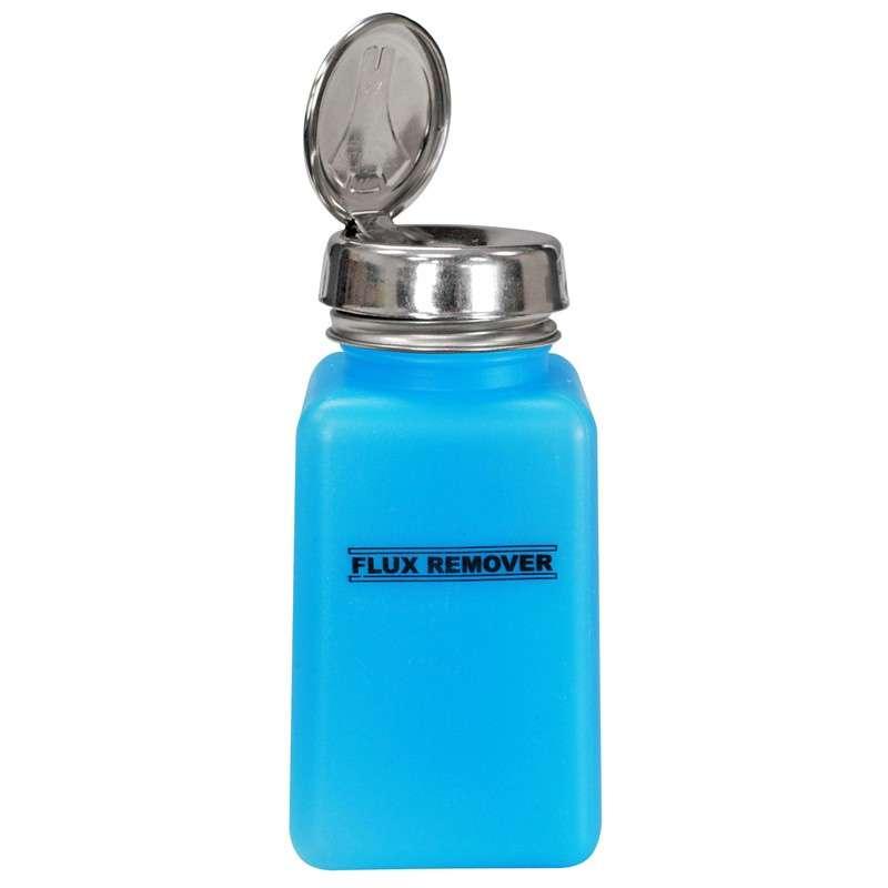 ESD-Safe Blue durAstatic™ Flux Remover Solvent Dispenser Bottle with One-Touch Pump, 6 oz