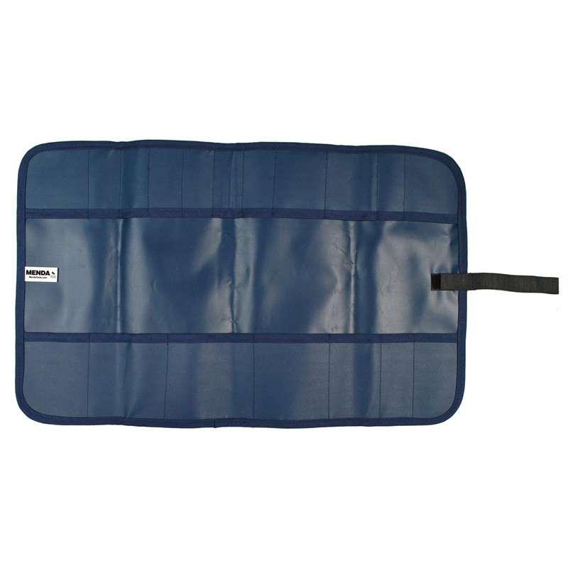 "Dissipative Blue Vinyl 18 Pocket Storage Pouch with Hook and Loop Closure, 20 x 12-1/2"" long"