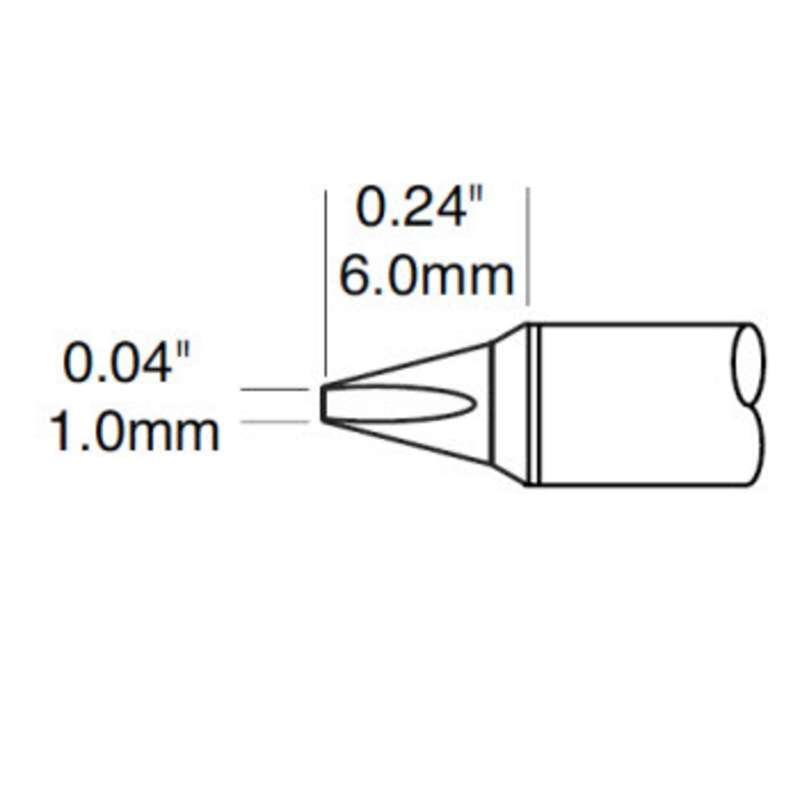 STTC 700 Power Series 30° Chisel Tip Solder Cartridge for MX Series Systems, 1.00mm