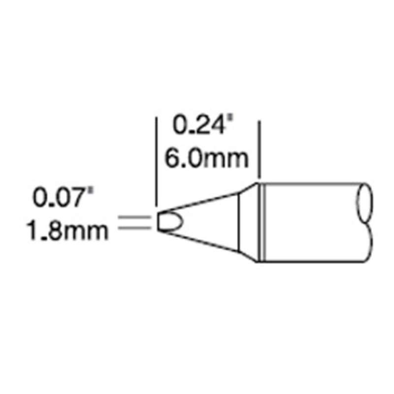 """Power Chisel Cartridge for the CV-5200 Soldering System, 30° Bend, 1.78mm (0.07"""")"""
