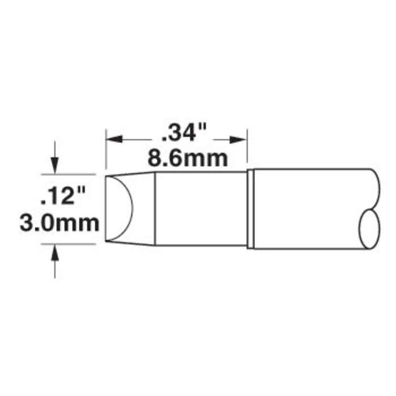Standard Chisel Cartridge for the CV-5200 Soldering System, 3.04mm