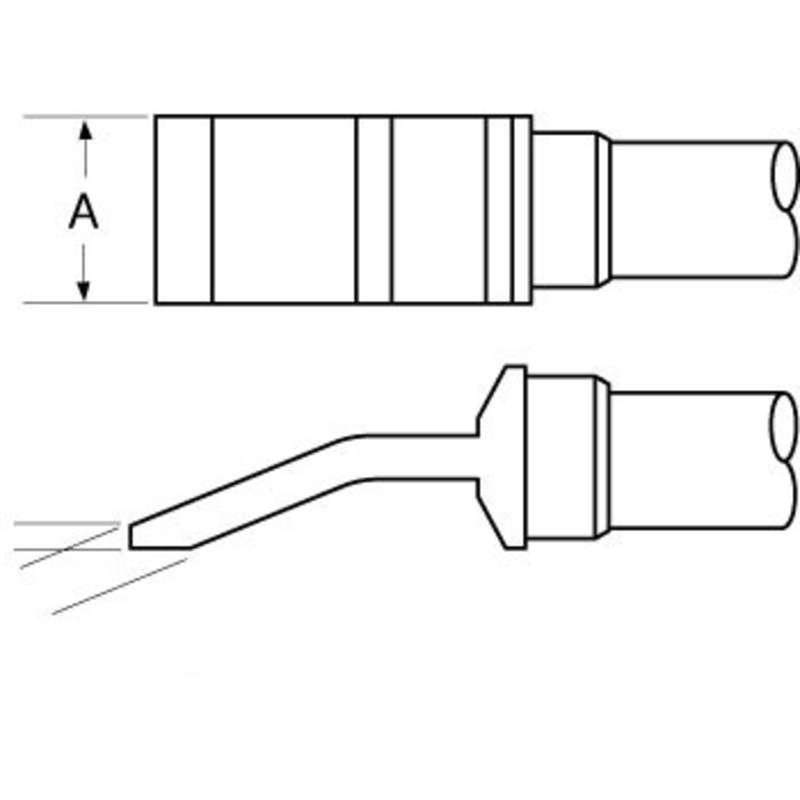"Heavy Duty Tweezer Solder Tips, Temperature Sensitive for MFR-HPT and MFR-H4-TW Handpieces, 1.1"", 2 per Pack"