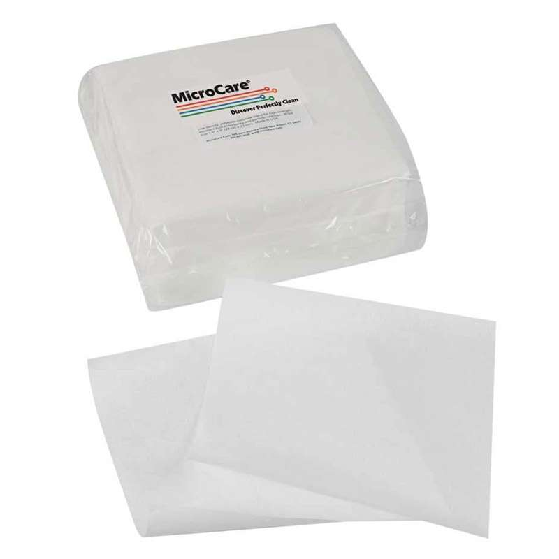 """Cleanroom Class 100 General Purpose Synthetic Polymer Wipes, 9 x 9"""", 300 per Bag"""