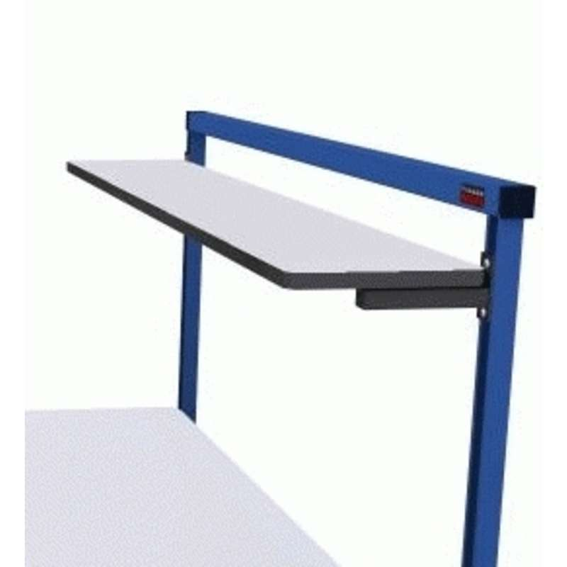 "ESD Laminate Shelf 12x72"", 12 Gauge Support Rail"