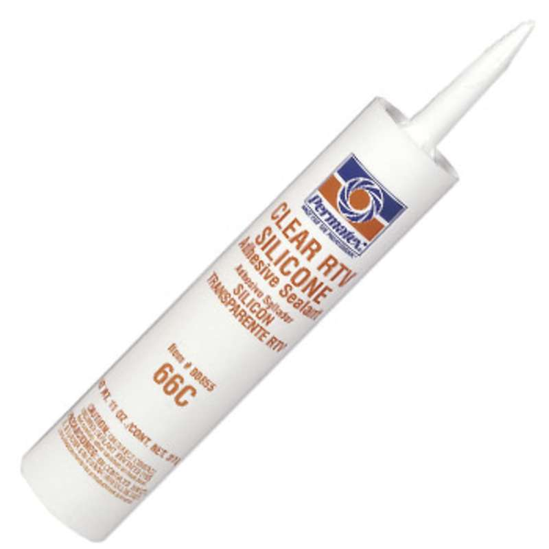 High Performance General Purpose Clear Silicone Adhesive Sealant, 11 oz. Cartridge