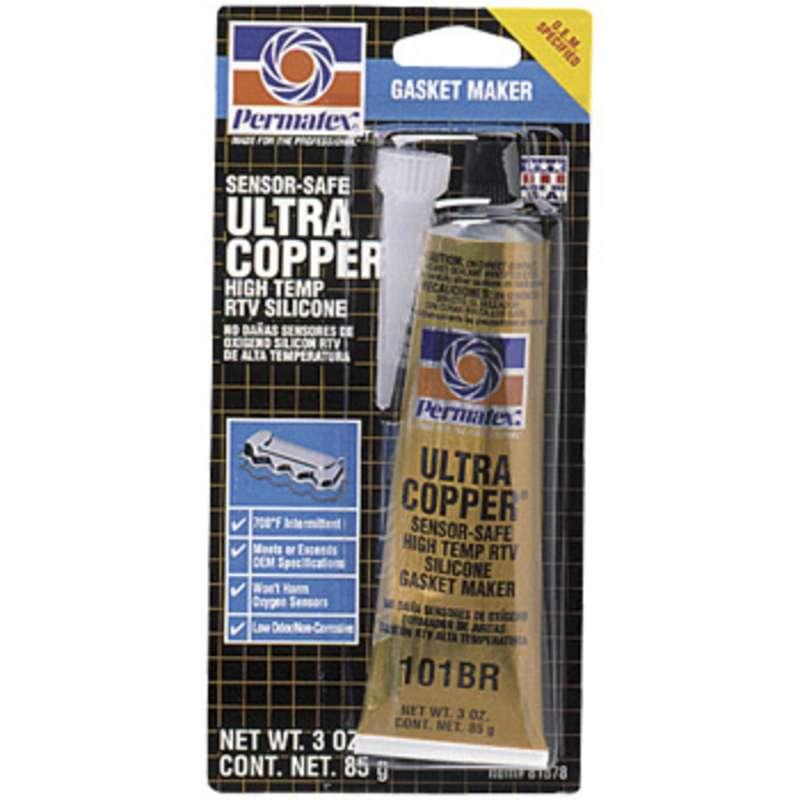Ultra Copper® Maximum Temperature Oil Resistance RTV Silicone Gasket Maker, 3 oz. Tube