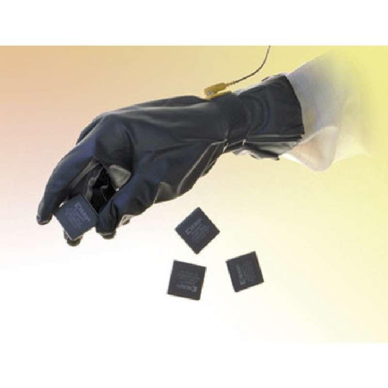 PolyTuff® Polyurethane 8 mil ESD Glove, Class 100, Black, Medium, 5/CA