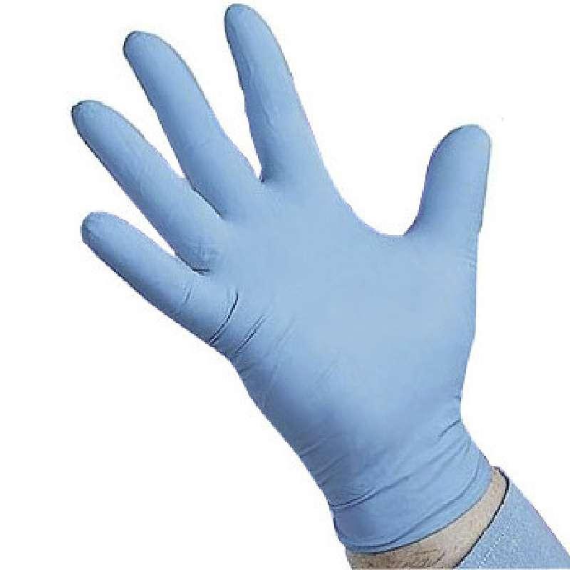 "ESD-Safe Qualatrile™ Industrial Grade 8mil Blue Powder-Free Nitrile Gloves, 2XL, 9"" Long, 50 per Package"