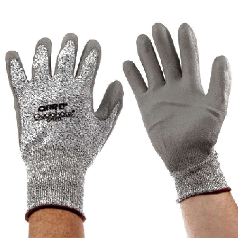 Qualakote® White and Black Knit Cut Resistant Gloves, Large