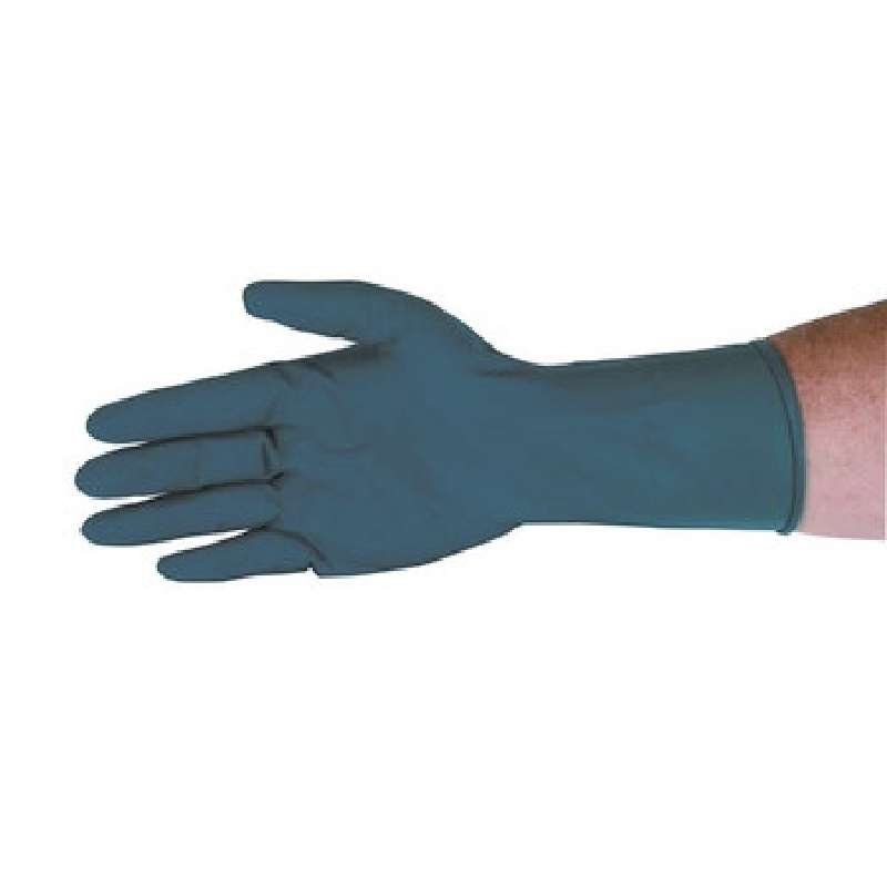 "Qualatex® Miracle Grip™ High Risk 13mil Blue Powder-Free Latex Gloves, X-Large, 9"" Long, 50 per Package"
