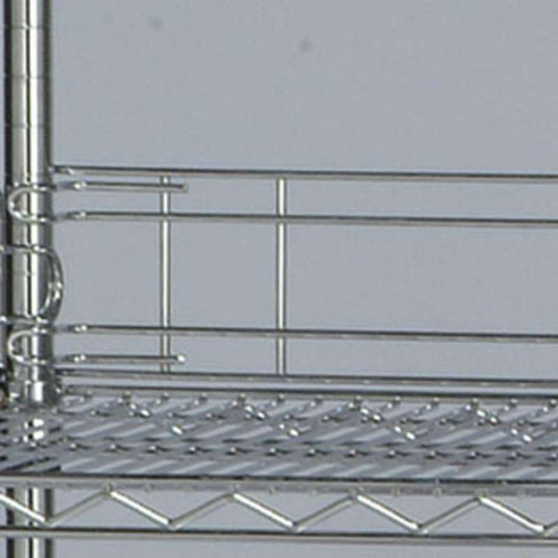 48in Back Ledge for Wire Shelf, Chrome