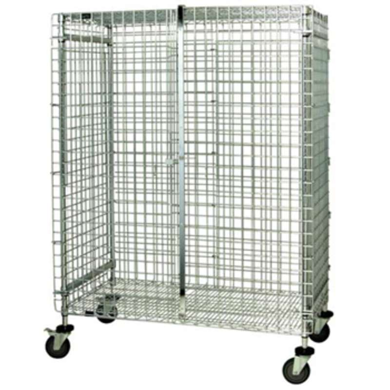 4-Tier Wire Shelving Mobile Cart, 24 in x 48 in x 69 in, 800 lb,