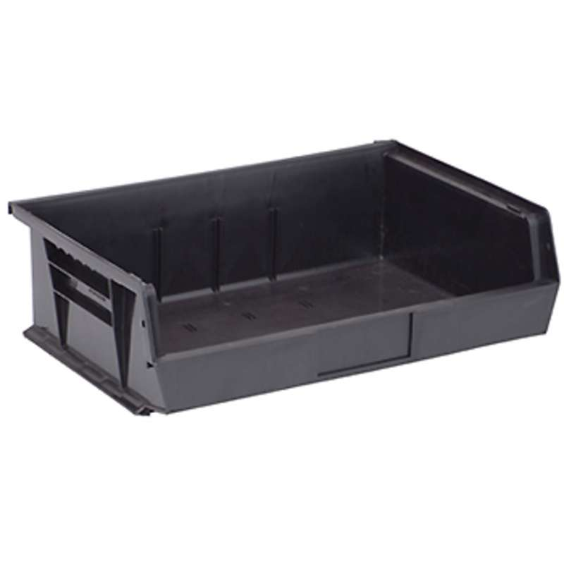 Ultra Stack and Hang Bin, 10-7/8 x 16-1/2 x 5in, Recycled Black, 6 per Case