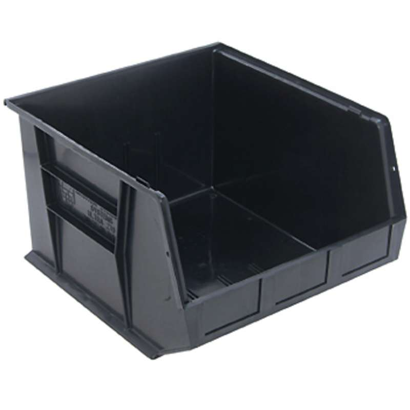 Ultra Stack and Hang Bin, 18 x 16-1/2 x 11in, Conductive Black, 3 per Case
