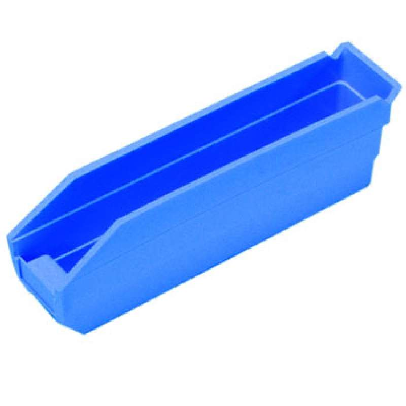 4in Economy Shelf Bin 11-5/8in x 2-3/4in x 4in, Blue, 36 per Case