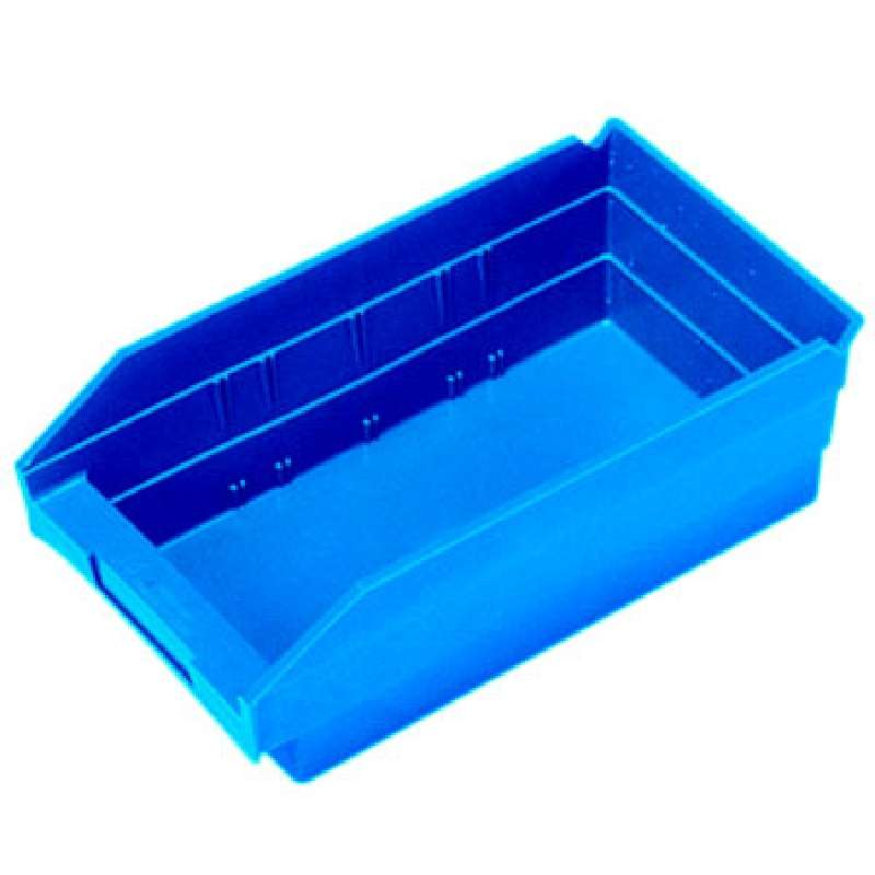 4in Economy Shelf Bin 11-5/8in x 6-5/8in x 4in, Blue, 30 per Case