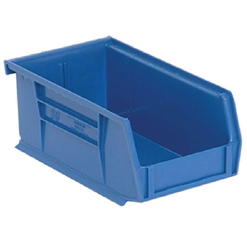 Q-Peg Bin Kit, Blue, 4-3/8 x 3-7/16 x 2-13/16in, 24 Bins and Pegboard Clips
