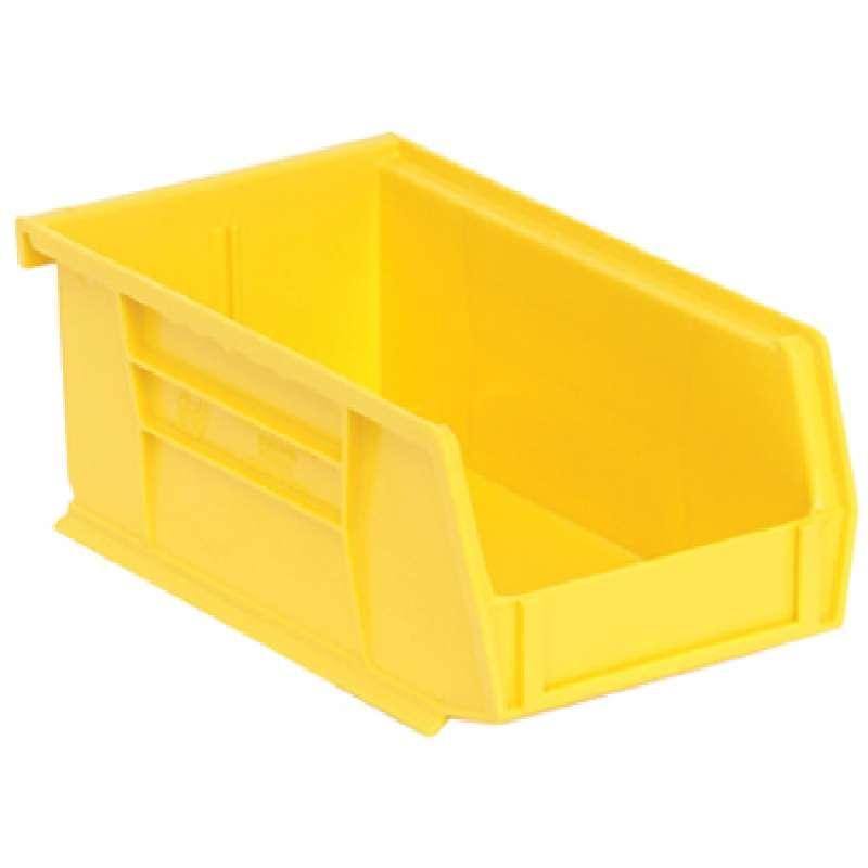 Q-Peg Bin Kit, Yellow, 4-3/8 x 3-7/16 x 2-13/16in, 24 Bins and Pegboard Clips