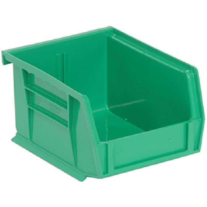 Q-Peg Bin Kit, Green, 4-3/4 x 3-7/16 x 2-13/16in, 24 Bins and Pegboard Clips