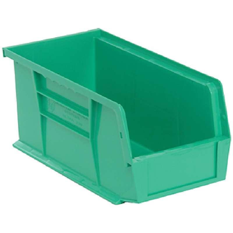 Q-Peg Bin Kit, Green, 10-1/4 x 4-3/8 x 4-3/4in, 12 Bins and Pegboard Clips