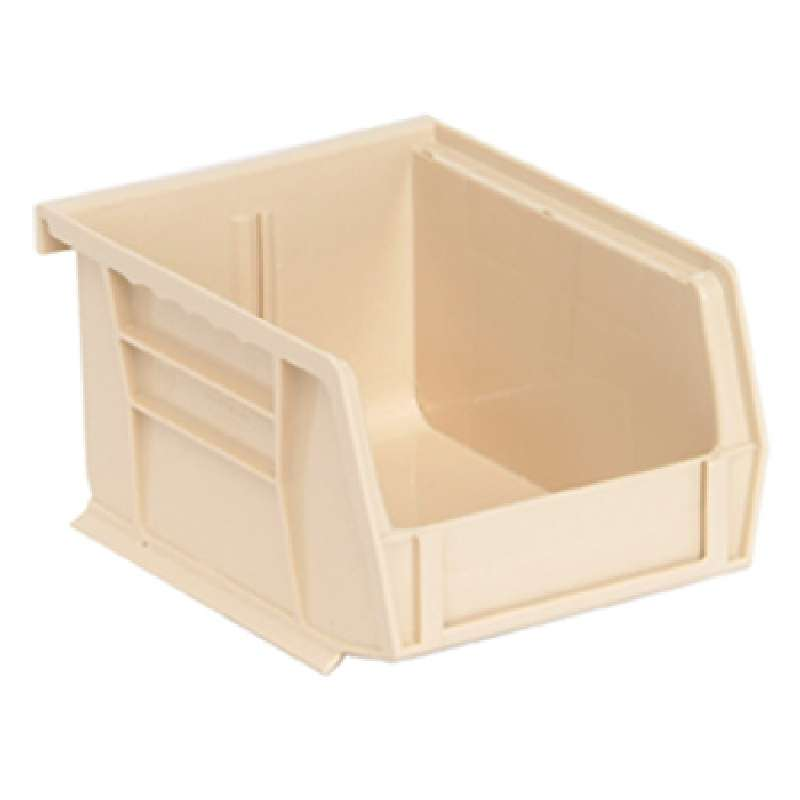 Q-Peg Bin Kit, Ivory, 10-1/4 x 4-3/8 x 4-3/4in, 12 Bins and Pegboard Clips
