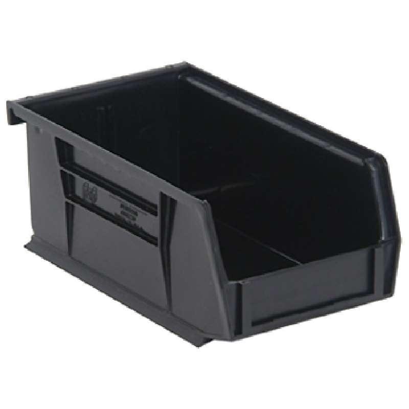 Q-Peg Bin Kit, Black, 6-3/4 x 3-7/16 x 2-13/16in, 24 Bins and Pegboard Clips