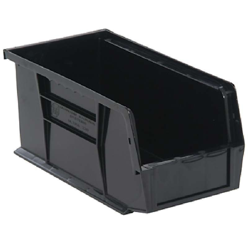 Q-Peg Bin Kit, Black, 10-1/4 x 4-3/8 x 4-3/4in, 12 Bins and Pegboard Clips