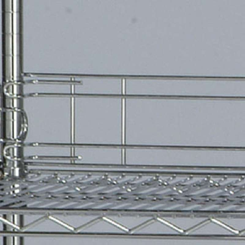 36in Back Ledge for Wire Shelf, Chrome