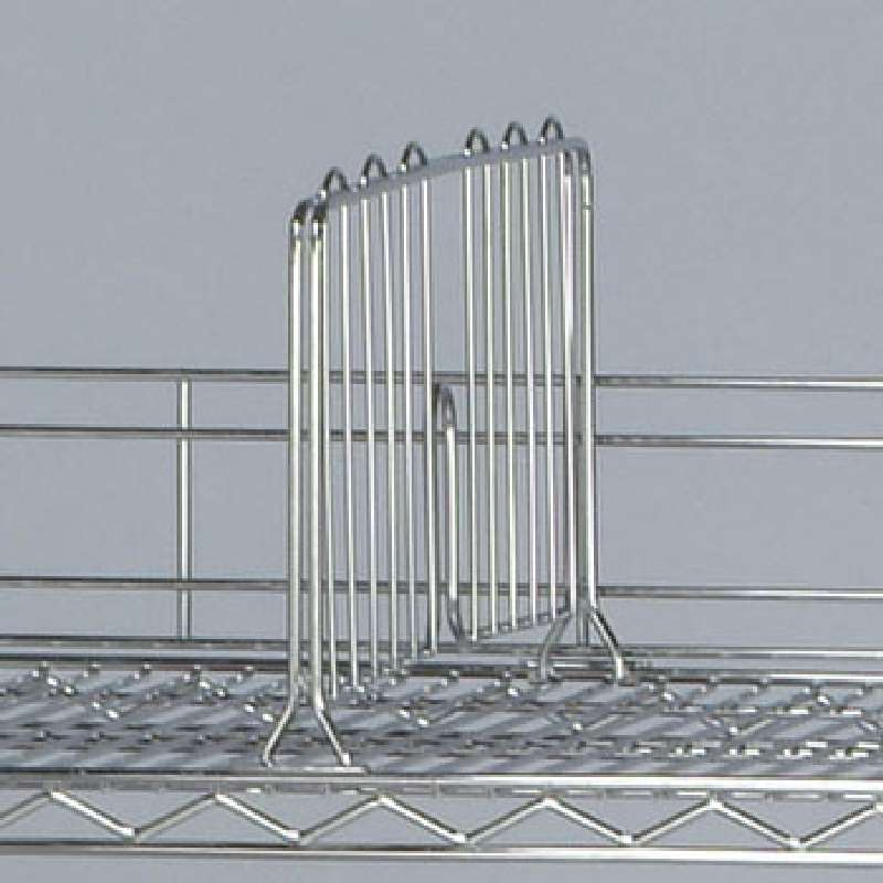 One 12in Shelf Divider, 8in Tall, Chrome