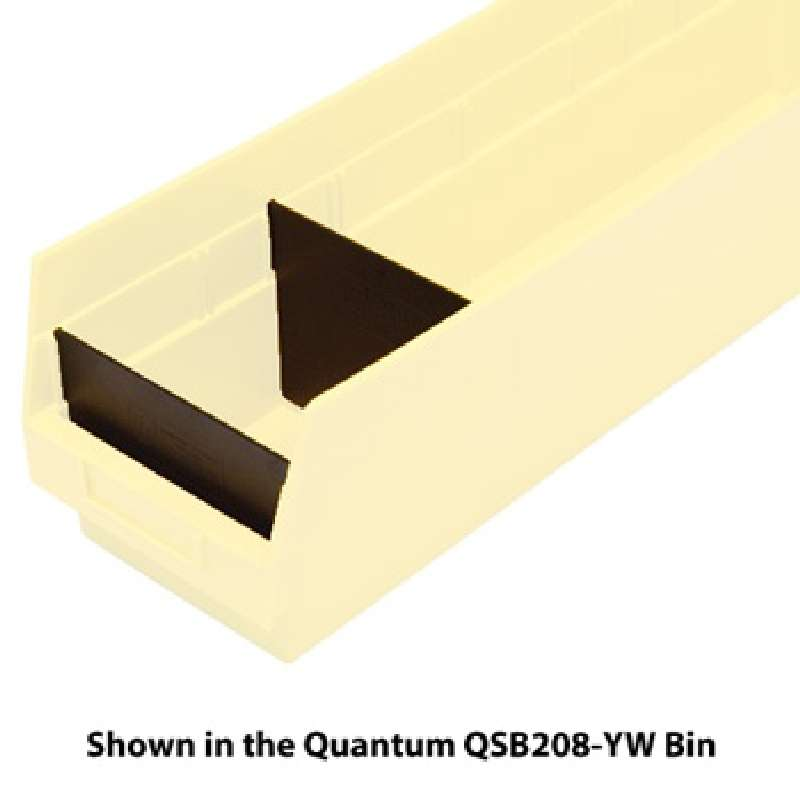 6in Divider for Shelf Bins QSB207, QSB208, QSB214, 50 per Case