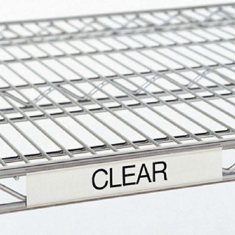 12in Clear Label Holder for Quantum Wire Shelves