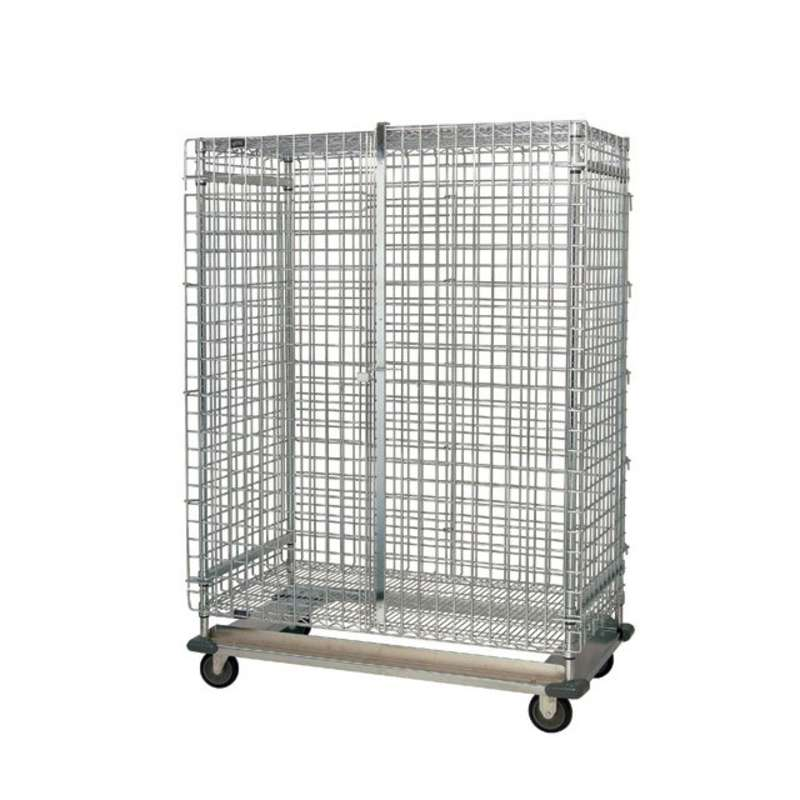 "Wire Security Cart, with Dolly Base, 24""W x 48""L x 70""H"