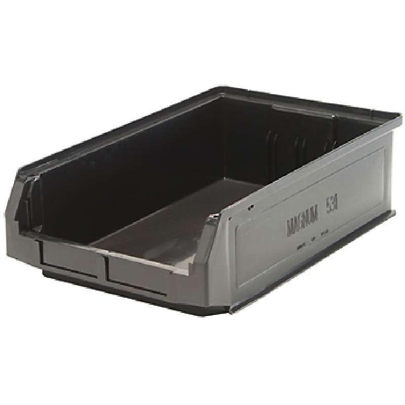Magnum Bin, Recycled Black, 19-3/4in x 12-3/8in x 5-7/8in, 6 per Case