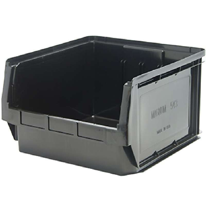 Magnum Bin, Recycled Black, 19-3/4in x 18-3/8in x 11-7/8in, 1 per Case