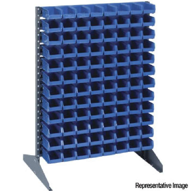 Single Sided Rack for Hanging Bins, 16 Rails, 36 L x 15 W x 53in H, Conductive