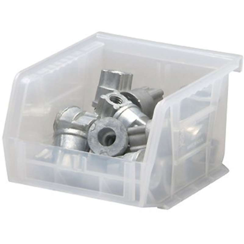 Ultra Stack and Hang Bin, 5 x 4-1/8 x 3in, Clear, 24 per Case